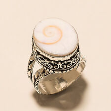 PERFECT!! GEM STONE SHIVA EYE 925 STERLING SILVER PLATED BEAUTIFUL RING US-7