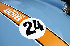 LE MANS 24 HOURS & CLASSIC 2016 ORANGE BONNET STRIPE sticker decal
