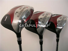 GRAPHITE SQUARE FAIRWAY 3 5 7 WOOD SET WOODS GOLF CLUBS