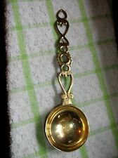 VINTAGE BRASS DEEP BOWL LOVING SPOON LADLE WITH ORNATE HANDLE HEARTS