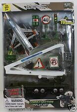 10 PIECE COMBAT ZONE ACTION DIE CAST METAL PLANE TRUCK ARMY MARINES