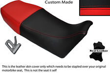 BLACK & RED CUSTOM FITS YAMAHA RD 350 YPVS F2 1989 LEATHER DUAL SEAT COVER