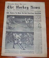 The Hockey News December 8 1951 Alex Delvecchio Rookie