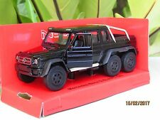 Welly 1/34-1/39 Die cast Car Mercedes-Benz G 63 AMG 6x6 SUV Truck (Black)