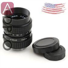 US Television TV Lens/CCTV Lens for C Mount Camera 25mm F1.4 in Black
