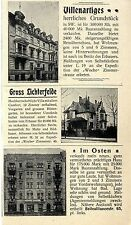 Immobilien in Berlin Gross Lichterfelde Bellealliancestr.65 Histor. Annonce 1899