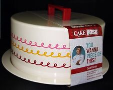 Cake Boss Metal Covered Cake Carrier You Wanna Piece of This Serveware