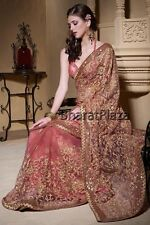 Traditional Pakistani Bollywood Indian Party Wear Saree Wedding Sari
