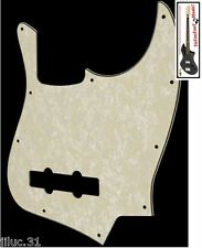 NEW PICKGUARD Jazz Bass aged pearl 3 ply pour Fender, Squier ou autre JBass etc