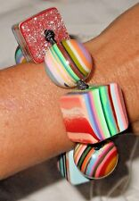 Sobral Pop Art Ciclope Cyclops Eye & Striped Liquorice Bracelet From Brazil