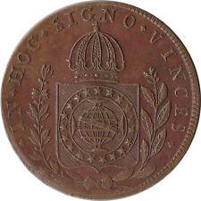 1828 (R) Brazil 80 Reis Large Coin KM#366.1