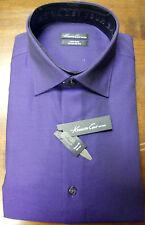 NWT MENS KENNETH COLE NEW YORK PURPLE REGULAR FIT DRESS SHIRT 15 1/2 34/35