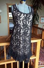 LE CHATEAU Sleeveless Black Lace Shift Dress Lined Cocktail LE CHATEAU Dress M