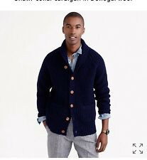 J.Crew Mens shawl-collar cardigan in donegal wool $198, Large, CURRENT