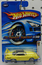 YELLOW SUPERBIRD 70 ROADRUNNER PLYMOUTH 1970 MOPAR HW HOT WHEELS