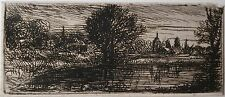 David Charles Read (1790-1851) Beautiful small Landscape etching. Early 19th c.