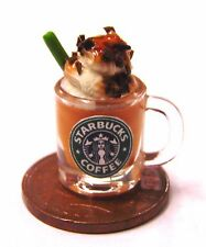 1:12 Mug Of Starbucks Caramel Chocolate Dolls House Miniature Drink Accessory
