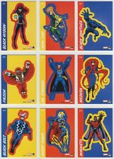 2014 Marvel 75th Anniversary RETRO STICKER 18 card full chase card Set S19-S36