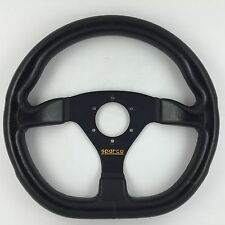 Sparco L360 Ring leather car steering wheel. Genuine. Flat Bottom D. Bargain!