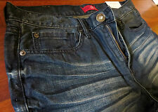Guess Slim Straight Leg Jeans Mens Size 34 X 32 Classic Vintage Distressed Wash