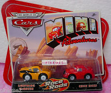 Disney PIXAR CARS Mini Adventures Race Rods ✿LIGHTNING McQUEEN & CHICK HICKS✿NIP