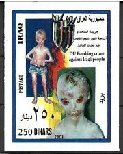 IRAQ IRAK US Bombs Dropped on Iraqi Citizens 2001  SOUVENIR SHEET SC# 1636 MNH