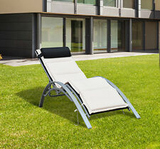 Adjustable Chaise Lounge Chair Sun Lounger Patio Outdoor Furniture Recliner