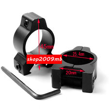 "20mm Hunting Rifle Scope Mount 1"" 25.4mm Low Profile Airgun Sight Ring for Laser"