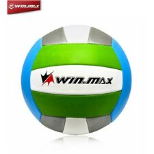 WINMAX Vollyball Official Size 5 Training Machine Stitched Ball PVC Rubber Green