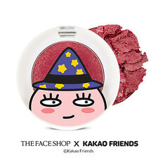 THE FACE SHOP X Kakao Friends Halloween Single Shadow Glitter #RD02 Gelling Red