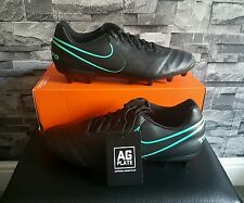 BNIB MENS NIKE TIEMPO GENIO II / 2 LEATHER FOOTBALL BOOTS AG - SIZE 8