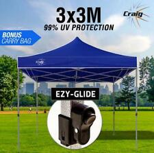 Navy Blu 3x3m Outdoor Gazebo Marquee Shade Folding Tent Pop Up Canopy Waterproof