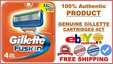 Genuine Gillette Fusion Razor Blade Refills Cartridges 4 Pack Authentic P&G USA