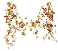 RAZ Imports QVC Valerie Fall Decor- Harvest Lighted Beaded Jeweled Garland #5848
