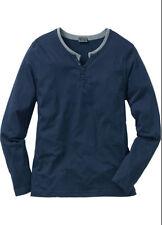 Basic-Langarmshirt mit Doppeloptik  Gr.60/62