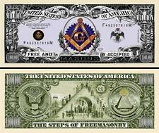 FRANC-MACON - BILLET MILLION DOLLAR US - FREEMASON Collection Franc-Maçonnerie