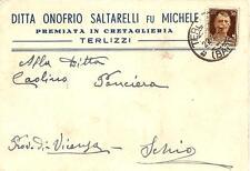 TERLIZZI ( Bari ) - DITTA ONOFRIO SALTARELLI fu MICHELE_Premiata in Cretaglieria