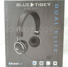 Blue Tiger DUAL Elite Bluetooth Wireless Headset Pro Trucker Cell Phone Overhead