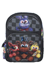 """Five Nights at Freddy's 16"""" Large School Backpack Boy Black Backpack NEW!"""