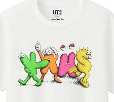 KAWS x UNIQLO 'Multi-Color Name' SPRZ NY Graphic Art T-Shirt SOLD-OUT XS Wht NWT