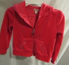 PRINCESS JUICY COUTURE PINK VELOUR PUFF SLEEVE HOODIE JACKET SZ XS NWTGS $40