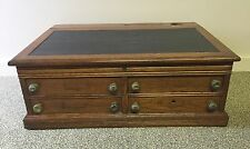 Antique J & P Coats Best Six Cord General Store Spool Thread Cabinet 4 Drawer