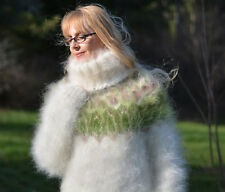 DUKYANA Hand Knitted Mohair Sweater New Thick ICELANDIC Jumper One Size Pullover
