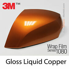 10x20cm FILM Gloss Liquid Copper 3M 1080 G344 Vinyle COVERING Series Wrapping