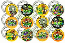 "Plants vs. Zombies Video Game 2"" Large Buttons Pins Party Favors (12)"