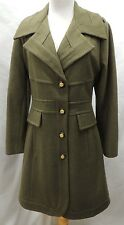 Guess Army Green Long Wool Trench Coat PXL Petite XL
