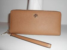 Tory Burch Perry Passport Leather Continental Wallet Brown