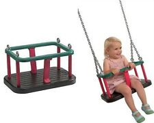 Rubber Baby Swing Seat Galvanised Chain Cubby House Playground Toddler Swings