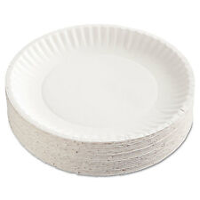 "Ajm Packaging Corp. Gold Label Coated Paper Plates 9"" dia White 100/Pack 10"