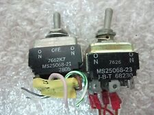 2x Toggle Switch 4 pole  On/On + On-Off-On 2 Throw